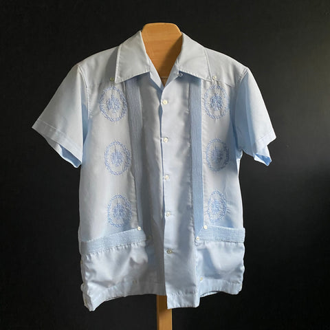 Guayabera 2 pocket 1960s pin tuck wedding shirt