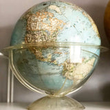 1960s National Geographic Globe on plexiglass stand