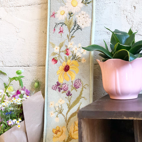 Large Floral Needlepoint