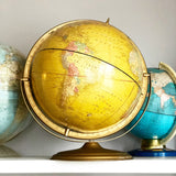 "Rare Yellow Lexicon Publications Inc 16"" Globe"