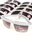 Sunglasses Retro Vintage 1980s Tinted Unisex Grey