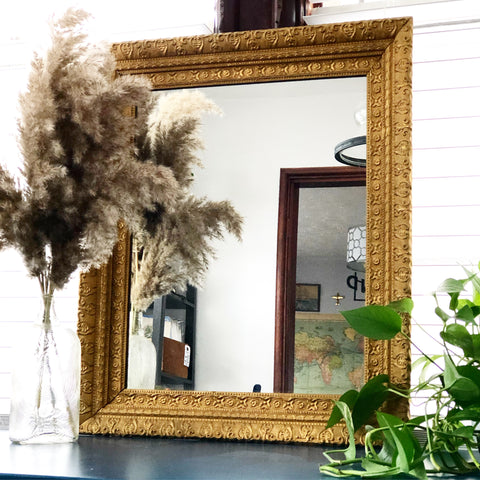 Gold Gilded Ornate Mirror