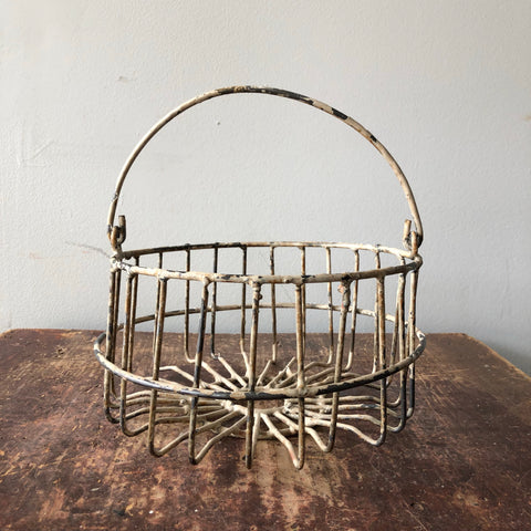 Antique Metal Egg Basket