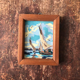 Small Vintage Paint By Number Sailboat