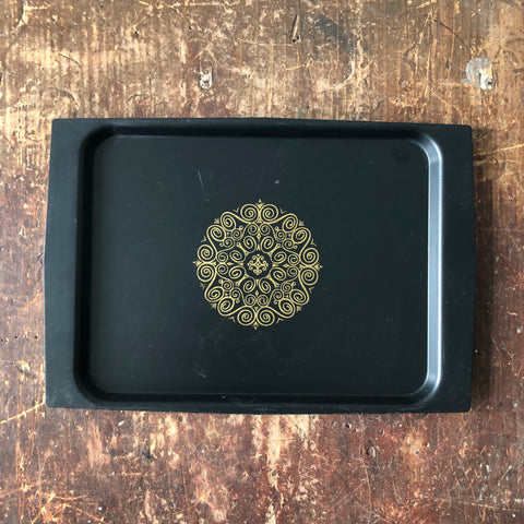 Vintage David Douglas Acca Small Black Plastic Tray