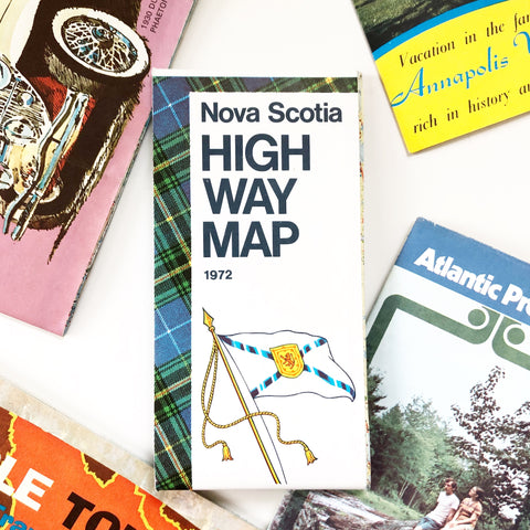 Nova Scotia Highway Map 1972