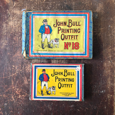 2 Typography Sets Vintage John Bull Printing Outfits