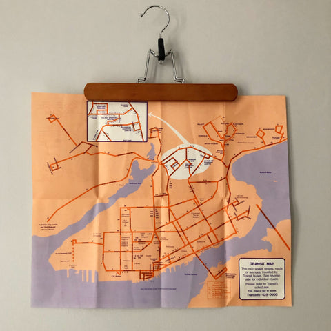 Vintage Halifax Transit Route Map 1971