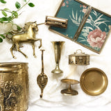 Vintage Brass Time Capsule