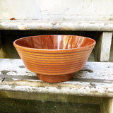 Large Brown Pottery Bowl