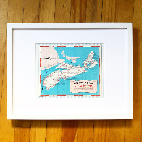 1960s Where to Stay in Nova Scotia Map