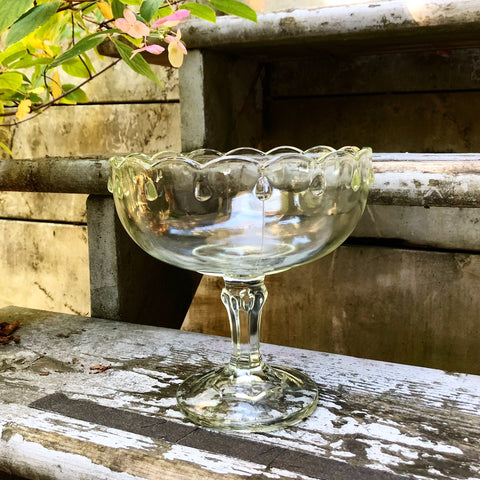 Glass compote bowl
