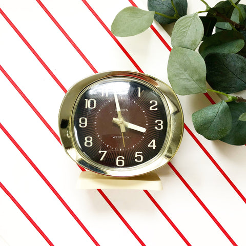 Big Ben Cream Metal Wind Up Alarm Clock