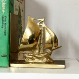 Brass Tall Ship Bookends