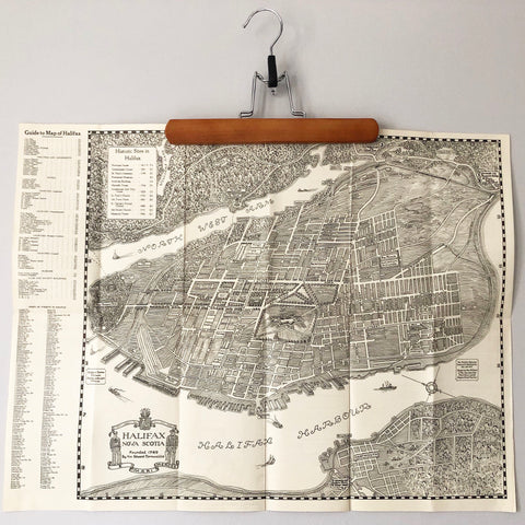 1940s Halifax Bird's Eye Map drawn by DeGarthe