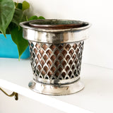 Small Copper and Silver plate Planter
