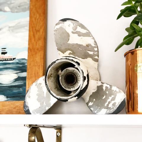 Vintage White Metal Propeller