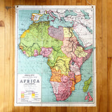 1960s Classroom Map of Africa