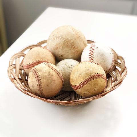 Lot of 6 Old Baseballs