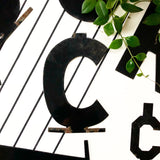 Vintage Metal Letter C from 1950s LA Theatre Marquee