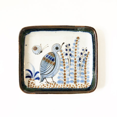Small Quail Pottery Dish Ken Edwards El Palomar