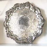 Edwardian Siverplate Footed Tray