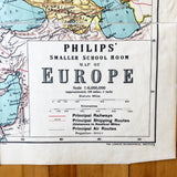 1960s Classroom Map of Europe