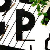 Vintage Metal Letter P from 1950s LA Theatre Marquee