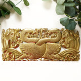 Interlocking Swans Brass Wall Hanging