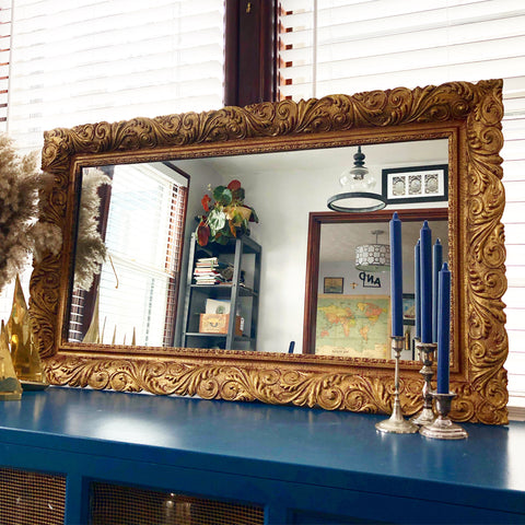 Ornate Wooden Gold Mirror