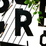 Vintage Metal Letter R from 1950s LA Theatre Marquee
