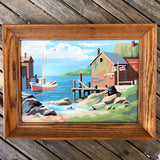 Vintage Fishing Shanty Paint by Number Painting