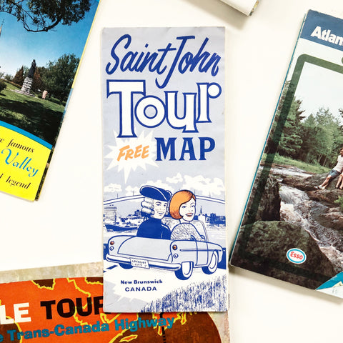 Vintage Saint John City Tour Map