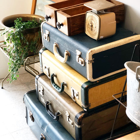 Eclectic Set of 3 Vintage Luggage