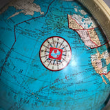 "Vintage Ohio Art Tin 12"" Globe"