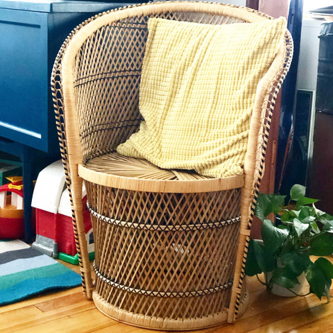 Small Wicker Peacock Chair