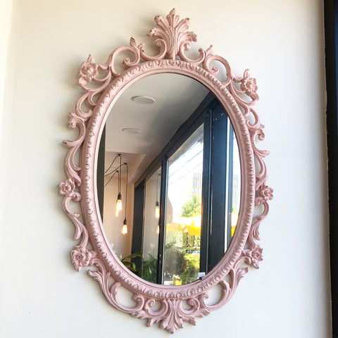 Pretty in Pink Vintage Mirror