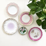 Vintage Pretty in Pink Wall Plate Display