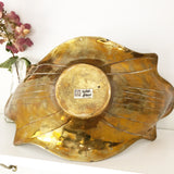 Hollywood Regency Brass Dish