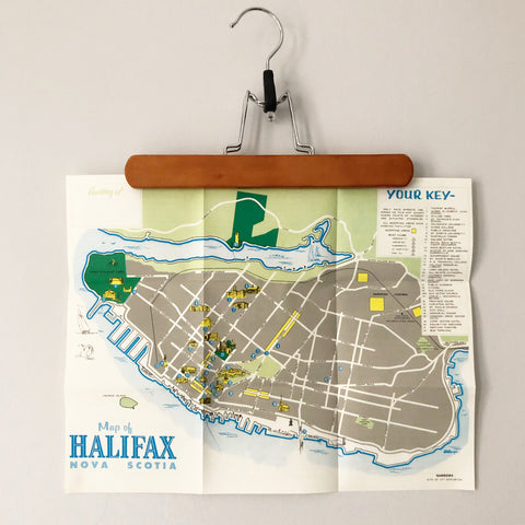 1960s Halifax Map illustrated by D Gough