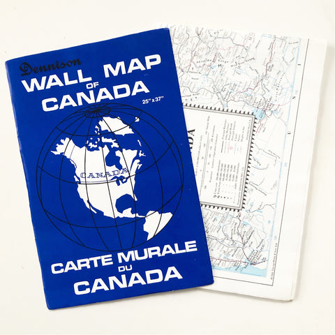 1968 Wall Map of Canada