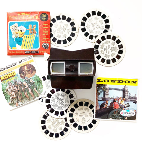 1940s Bakelite ViewMaster with Assorted Slides