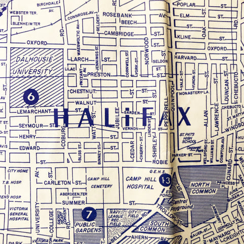 Vintage Halifax/Dartmouth Map