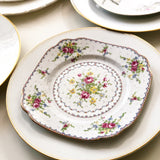 Eclectic Set of 6 Dinner Plates and 6 Side Plates