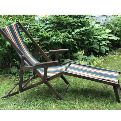 Adjustable Wooden Lounger 1940s