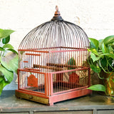 Red Genykage Birdcage 1930s