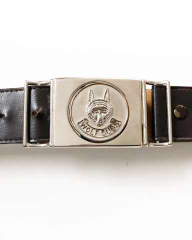 Wolf Cubs 1980s Faux Leather Belt with Clip