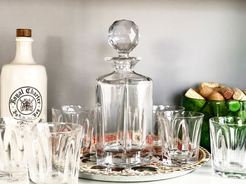 Vintage Decanter and 6 Glasses