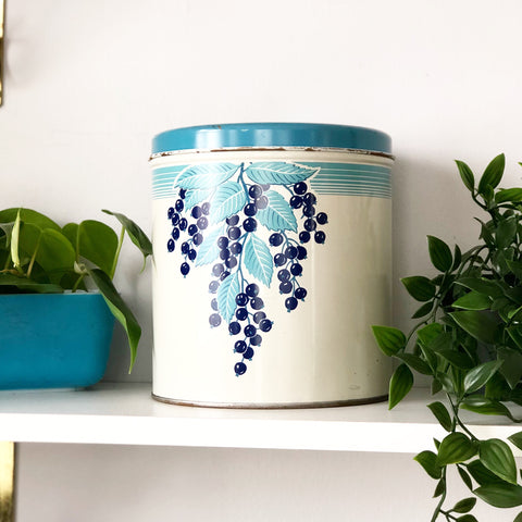 Retro Blueberry Tin by Decoware
