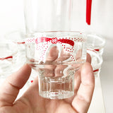 Set of 6 Retro Glasses and Pitcher